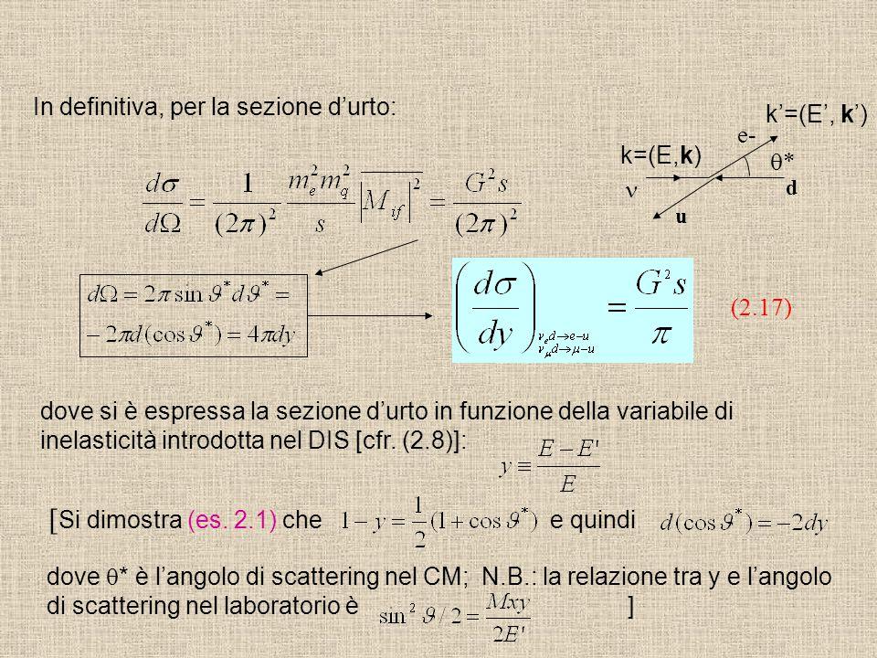 [Si dimostra (es. 2.1) che e quindi